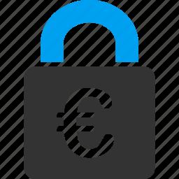 euro, european, lock, password, private, protection, safe icon