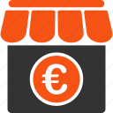euro, european, market, shop, shopping, store, supermarket icon