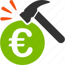 accident, crime, damage, danger, euro, european, robbery icon