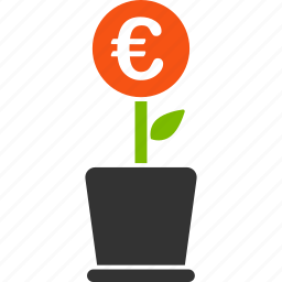 business, euro, european, invest, investment, project, startup icon