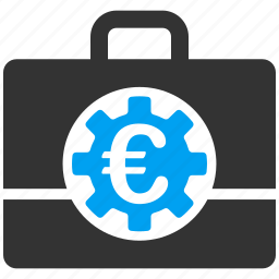 accounting, bag, bank, case, euro, european, finance icon