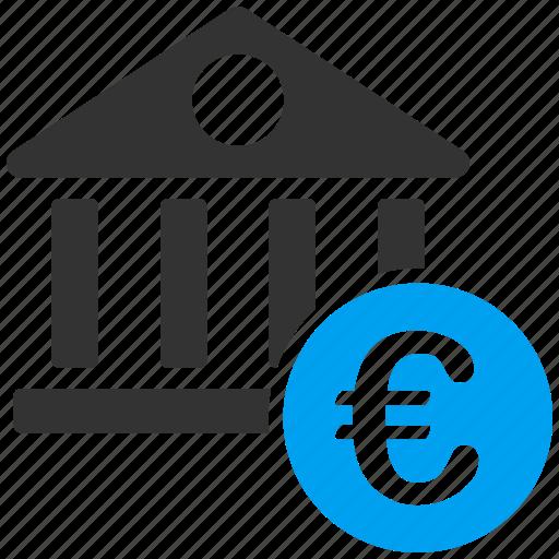 bank building, banking, euro, european, finance, financial center, money icon