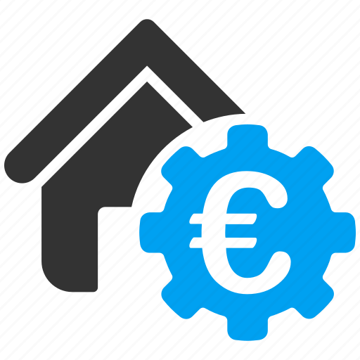 building, euro, european, finance, industrial, payment, service icon