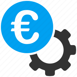 cog, configure, engineering, euro, european, finance, mechanism icon