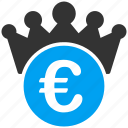 boss, crown, euro, european, finance, king, leader icon