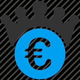 boss, crown, euro, european, finance, king, leader icon
