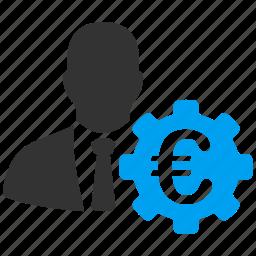 banker, commersant, economist, euro, european, finance, investor icon
