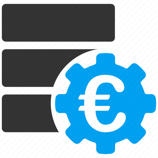 database, euro, european, finance, financial, options, settings icon