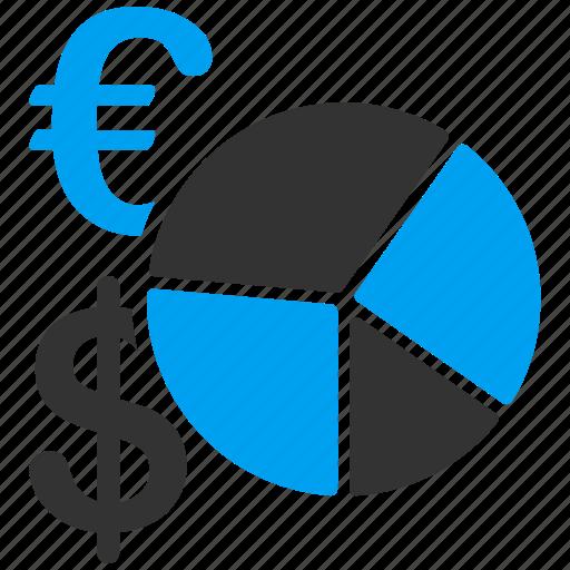 business, diagram, euro, european, finance, financial, pie chart icon