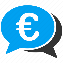 chat, cooperation, euro, european, finance, financial, transactions icon