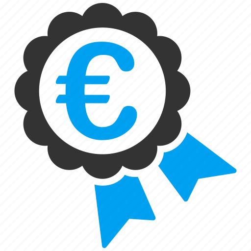 achievement, award, certification, euro, european, guarantee, warranty seal icon