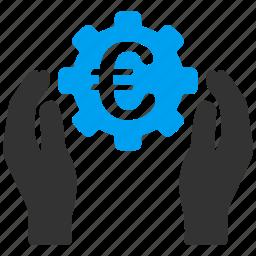 care, development, euro, european, finance, hands, insurance icon