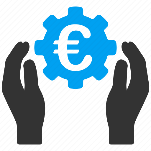 care, development, euro, european, finance, hands, insurance icon