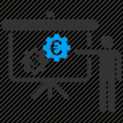 bank, euro, european, finance, international, lecture, presentation icon