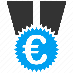 badge, euro, european, medal, reward, success, winner icon