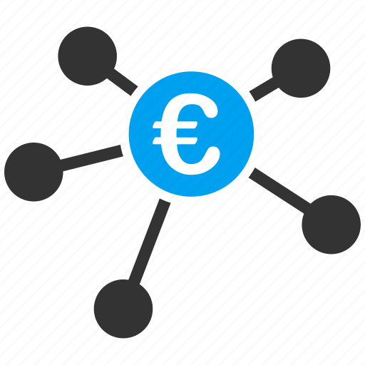 bank branches, euro, european, payments, payouts, relations, transactions icon