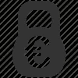 capital, euro, european, finance, mass, treasury, weight icon
