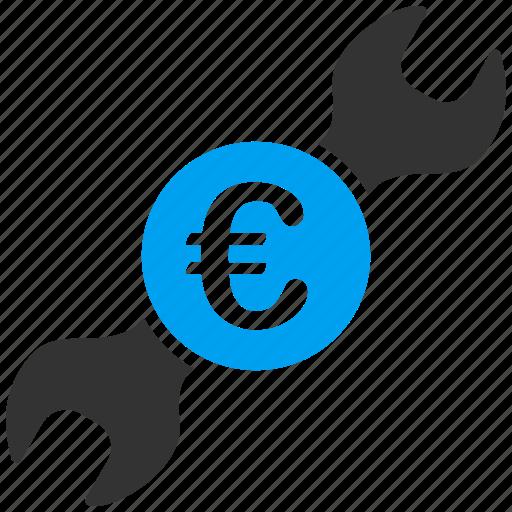 euro, european, finance, service, setup, tool, wrench icon