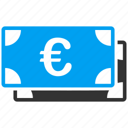banknotes, business, euro, european, shopping icon