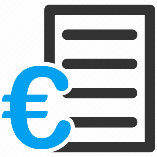 bill, business, euro, european, price list, shopping icon
