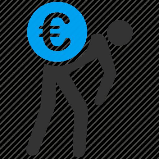 business, delivery, euro, european icon