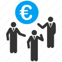 business group, chat, communication, discussion, euro forum, people talking, social contacts icon
