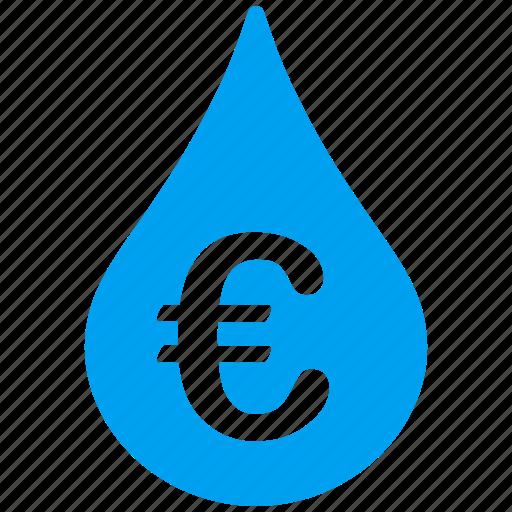 business, drop, euro, european, liquid icon