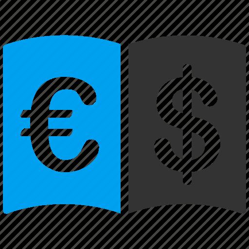 business, catalog, euro, european, inetrantioonal icon
