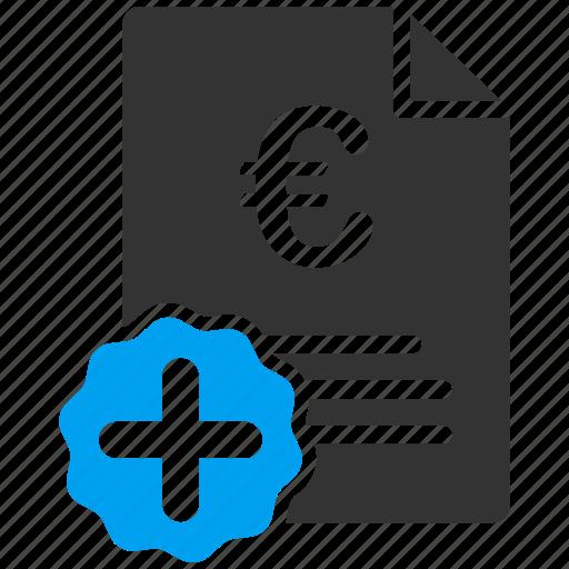 business, euro, european, invoice icon