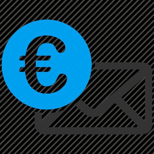 communication, envelope, euro, letter, mail, message, newsletter icon