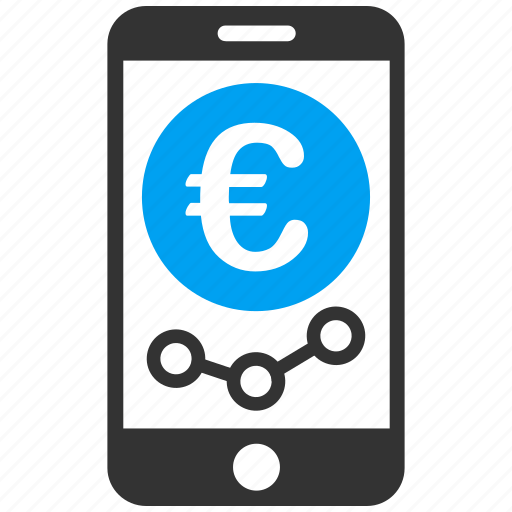 communication, connection, euro, iphone, market monitoring, mobile phone, smartphone icon