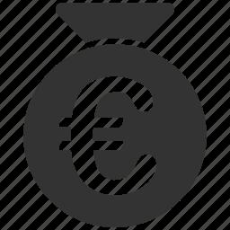 bag, business, euro, european, money, shopping icon