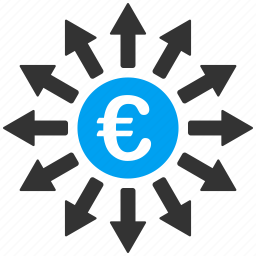 bank branches, banking, cash flow, euro, financial, payments, payouts icon