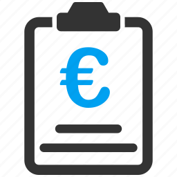 certificate, contract, euro, finance, offer, prices, purchase order icon