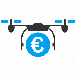 business, euro, european, payment, quadcopter, shopping icon