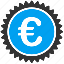 business, euro, european, quality, shopping, stamp icon