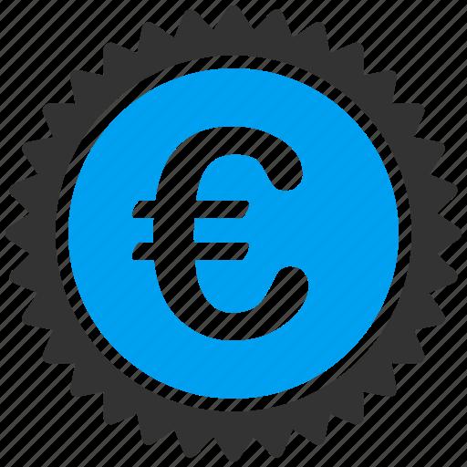 business, euro, european, quality, shopping, stamp icon