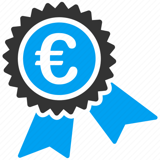 business, euro, european, quarantee, seal, shopping icon