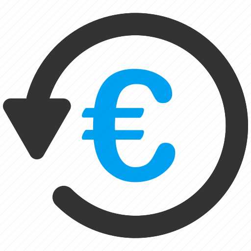chargeback, euro, money back, refund, restore, reverse, rollback icon