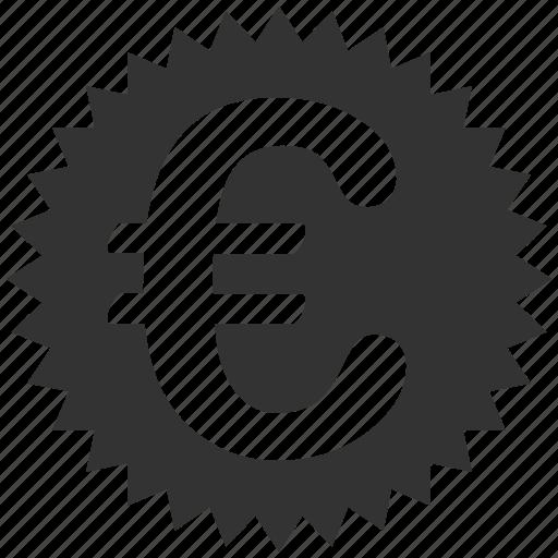 business, euro, european, stamp, warranty icon