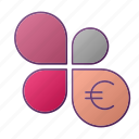 analytics, chart, euro, flower, graph, seo icon