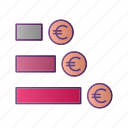 analytics, chart, diagram, euro, graph, money, seo icon
