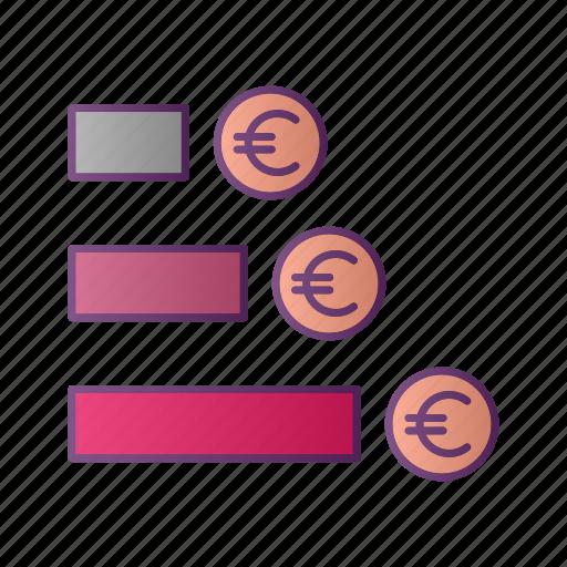 analytics, chart, diagram, euro, graph, money, seo icon