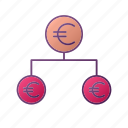 analytics, chart, euro, graph, money, seo, share icon