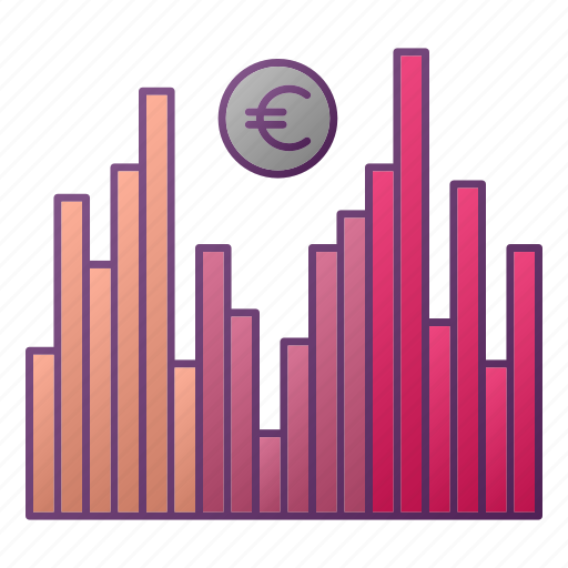 analytics, chart, euro, graph, money, seo icon