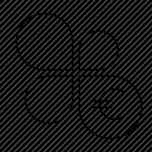 analytics, euro, flower, report, statistics icon
