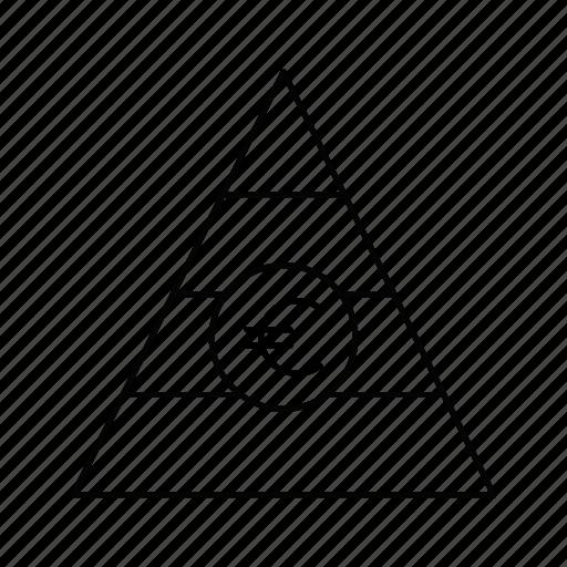 analytics, chart, euro, graph, piramid, report, statistics icon