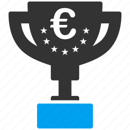 achievement, award cup, business, euro, european, win, winner icon