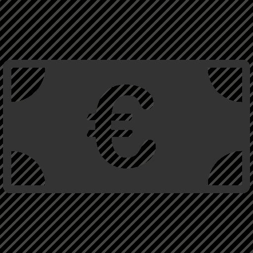 banknote, business, cash, euro, european, money, payment icon