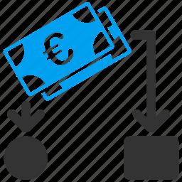 business, cash flow, cashflow, euro, european, financial, payment icon
